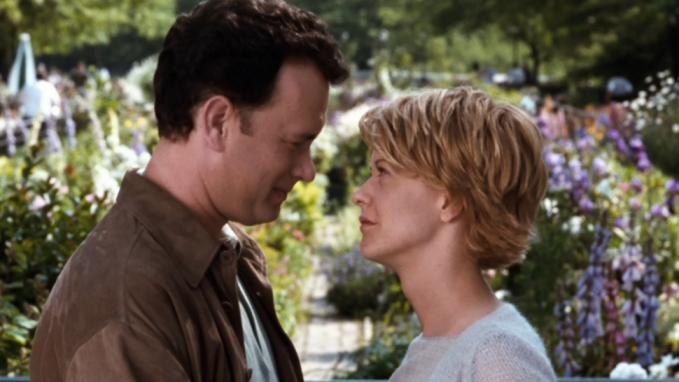 Meg Ryan and Tom Hanks meet in You've Got Mail