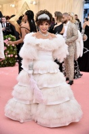 Joan Collins in Valentino Haute Couture - Met Ball 2019
